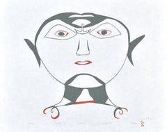 ULLULIQ (HEAD WITH ULU) - Northern Expressions | Ohotaq Mikkigak - Print | | Canadian Indigenous & Inuit Art