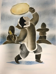 Drum Dance - Northern Expressions | Andrew Qappik - Print | | Canadian Indigenous & Inuit Art