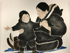 I Love You - Northern Expressions | Andrew Qappik - Print | | Canadian Indigenous & Inuit Art