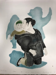 Close To Her - Northern Expressions | Andrew Qappik - Print | | Canadian Indigenous & Inuit Art