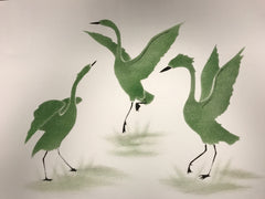 Northern Cranes - Northern Expressions | Andrew Qappik - Print | | Canadian Indigenous & Inuit Art