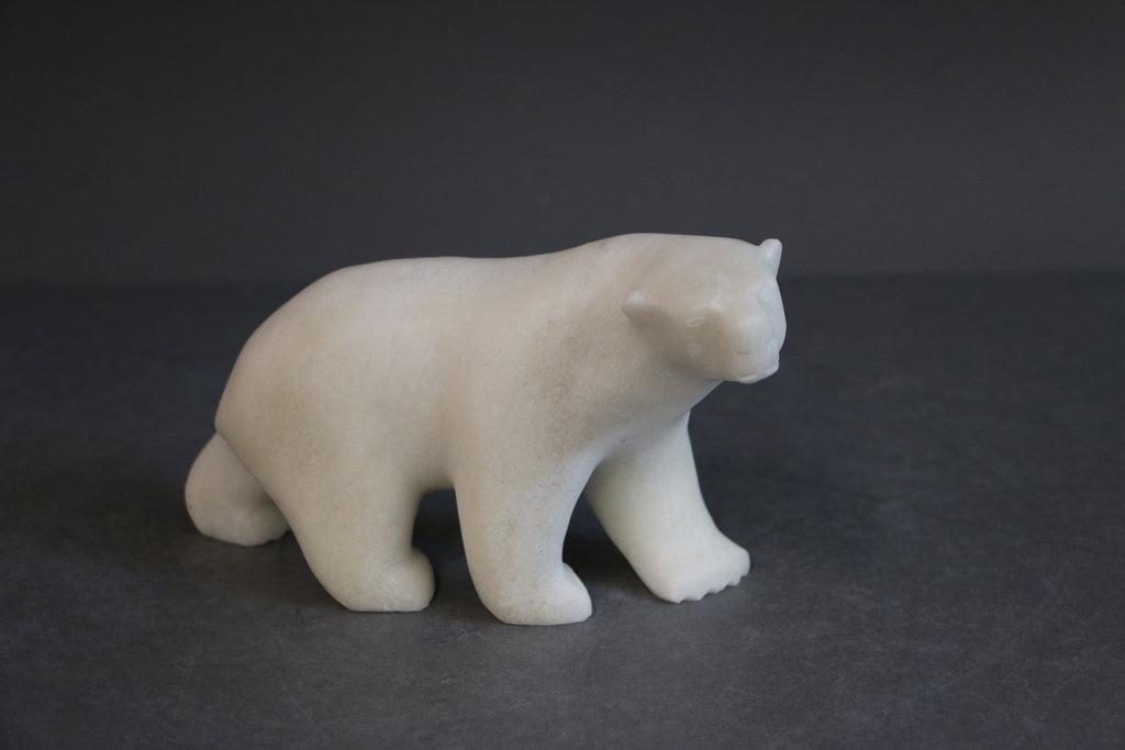 Walking Bear - Northern Expressions | Tony Ohotaq - Carving | | Canadian Indigenous & Inuit Art