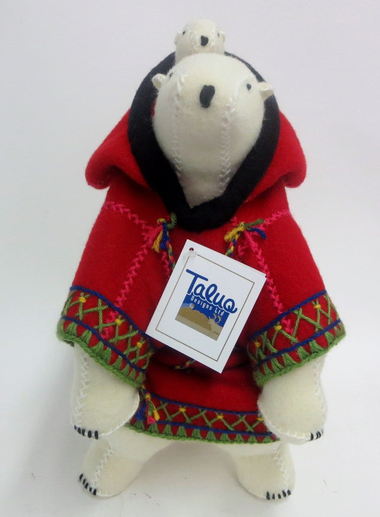 Polar Bear Packing Doll - Northern Expressions | Rankin Inlet - Gift | | Canadian Indigenous & Inuit Art