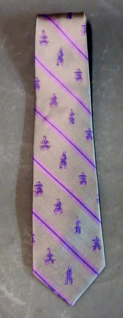 100% Inukshuk silk tie. Inuit made in Canada