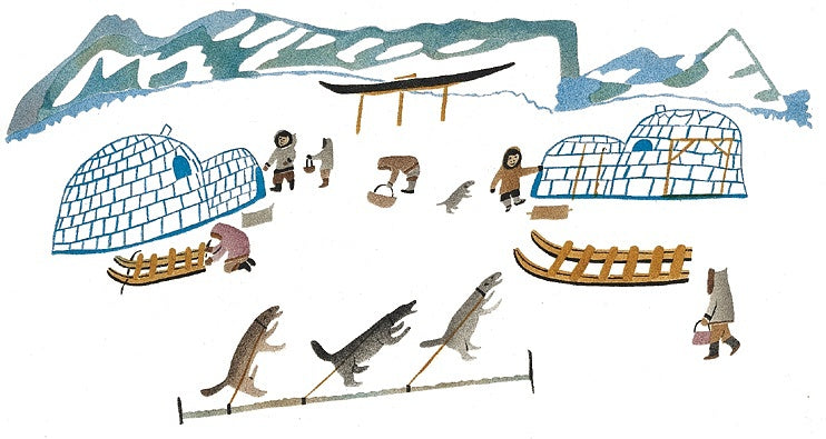 Winter Camp - Northern Expressions | Elisapee Ishulutaq - Print | | Canadian Indigenous & Inuit Art