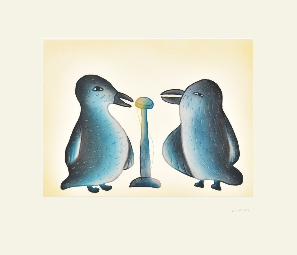 Song Birds by Malaija Pootoogook. Cape Dorset Inuit Print