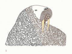 Floral Transformation - Northern Expressions | Ningeokuluk Teevee - Print | | Canadian Indigenous & Inuit Art