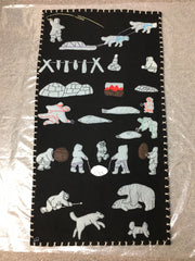 Inuit Handmade Wall Hanging - Northern Expressions | Lucy Qiyuarjuk - Gift | | Canadian Indigenous & Inuit Art