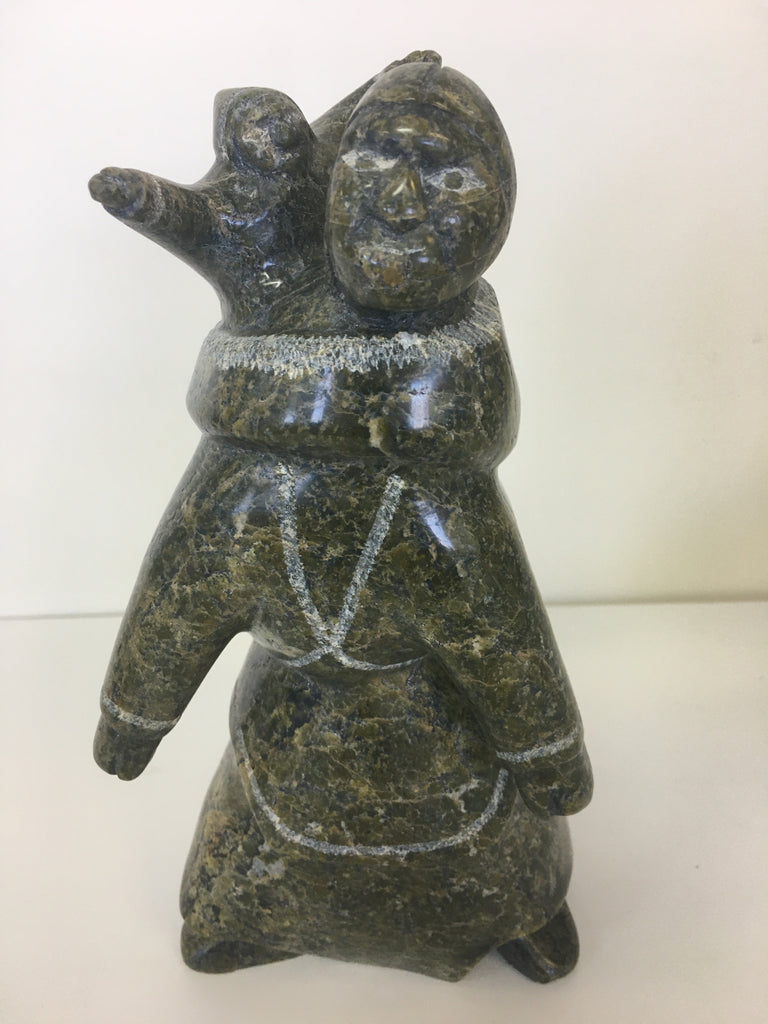 Mother and Child - Northern Expressions | Mary Oshutsiaq - Carving | | Canadian Indigenous & Inuit Art