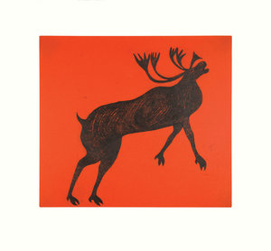 Rearing Caribou - Northern Expressions | QUVIANAQTUK PUDLAT - Print | | Canadian Indigenous & Inuit Art