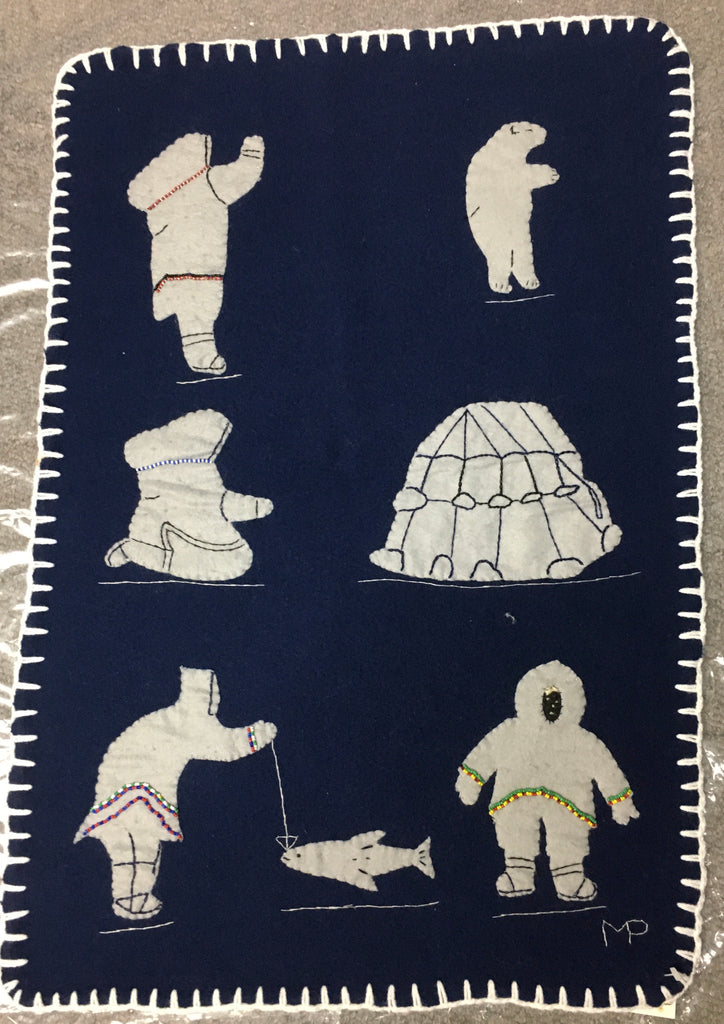 Inuit Handmade Wall Hanging - Northern Expressions | Margaret Pingushat - Gift | | Canadian Indigenous & Inuit Art