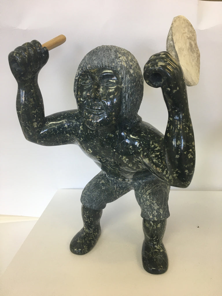 Drummer - Northern Expressions | Pits Niviaqsi - Carving | | Canadian Indigenous & Inuit Art
