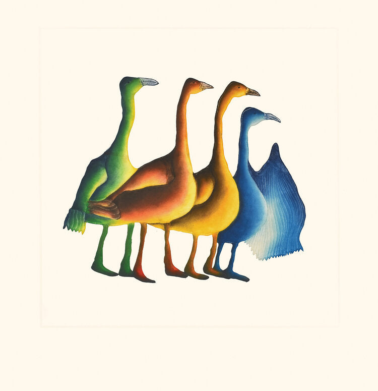 Gaggle of Geese - Northern Expressions | Pitaloosie Saila - Print | | Canadian Indigenous & Inuit Art