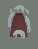 Sly Foxes - Northern Expressions | QUVIANAQTUK PUDLAT - Print | | Canadian Indigenous & Inuit Art