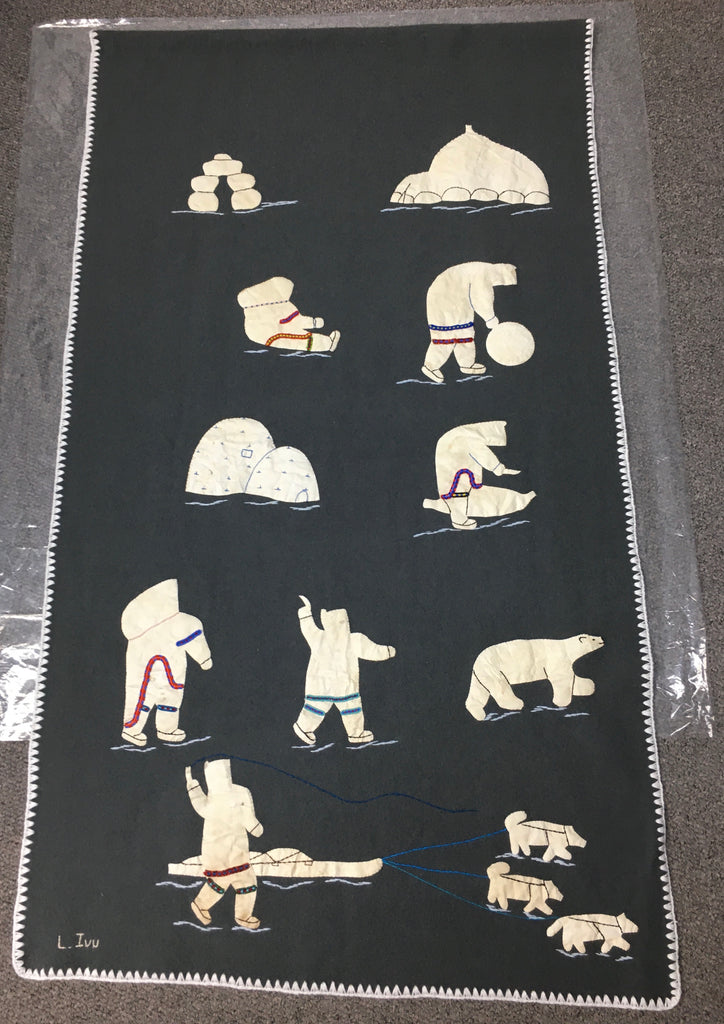Inuit Handmade Wall Hanging - Northern Expressions | Lucy Angoyuaq - Gift | | Canadian Indigenous & Inuit Art