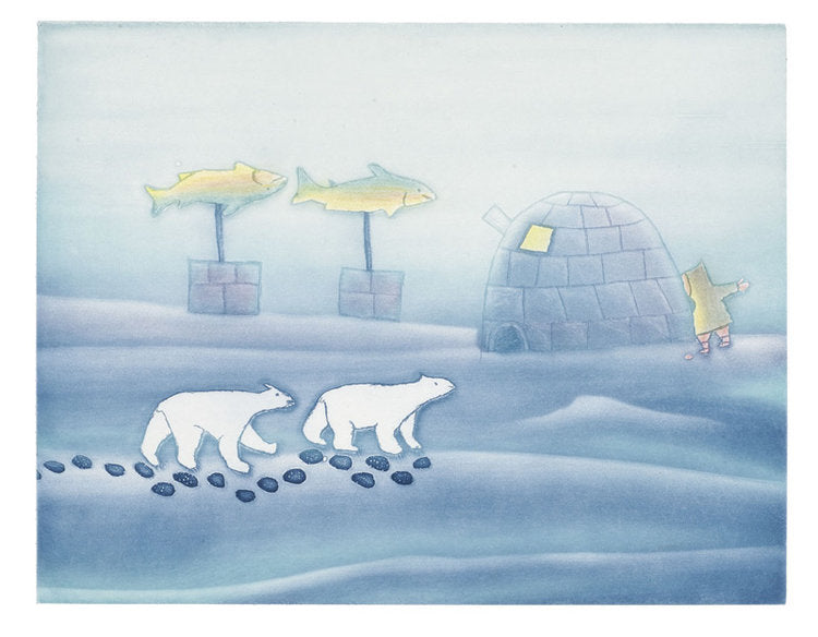 WINTER - Northern Expressions | Papiara Tukiki - Print | | Canadian Indigenous & Inuit Art