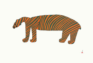 Striped Bear - Northern Expressions | Samaiyu Akesuk - Print | | Canadian Indigenous & Inuit Art