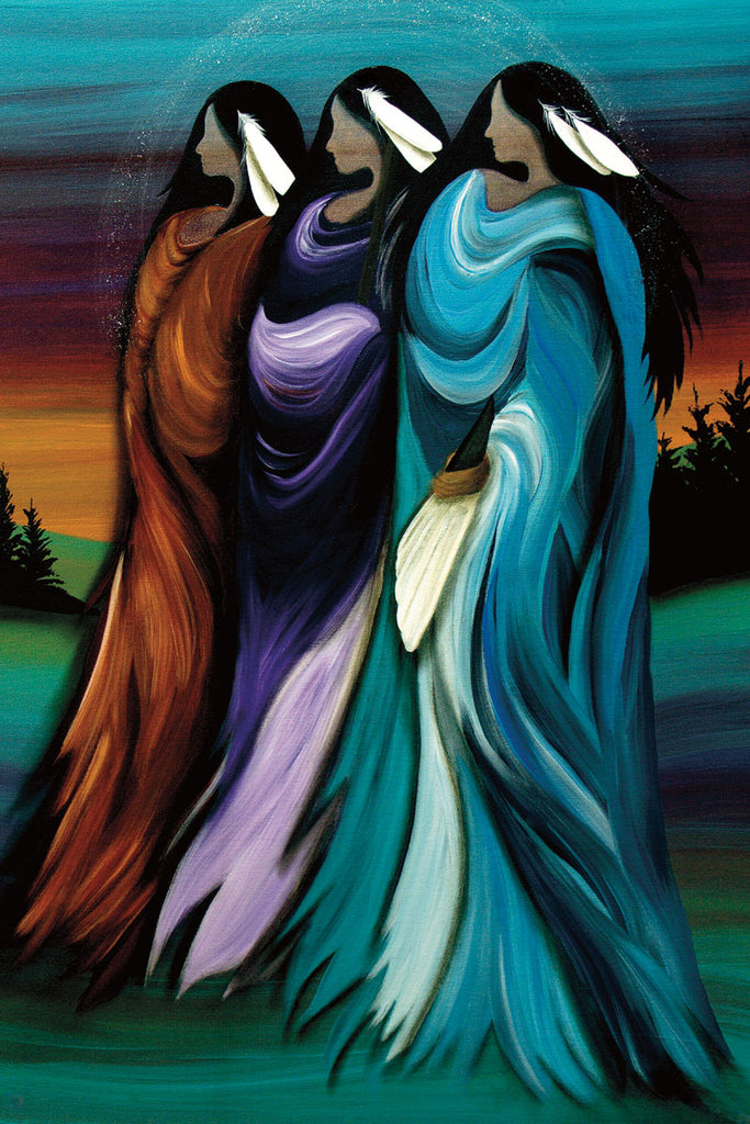 Three Sisters - Northern Expressions | Betty Albert - Print | | Canadian Indigenous & Inuit Art