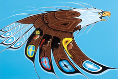 On Eagle's Wings - Northern Expressions | Shelly Fletcher - Print | | Canadian Indigenous & Inuit Art