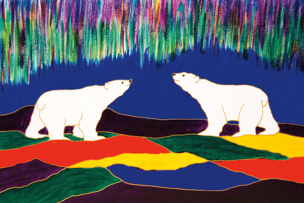 Sky Watchers - Northern Expressions | Dawn Oman - Print | | Canadian Indigenous & Inuit Art