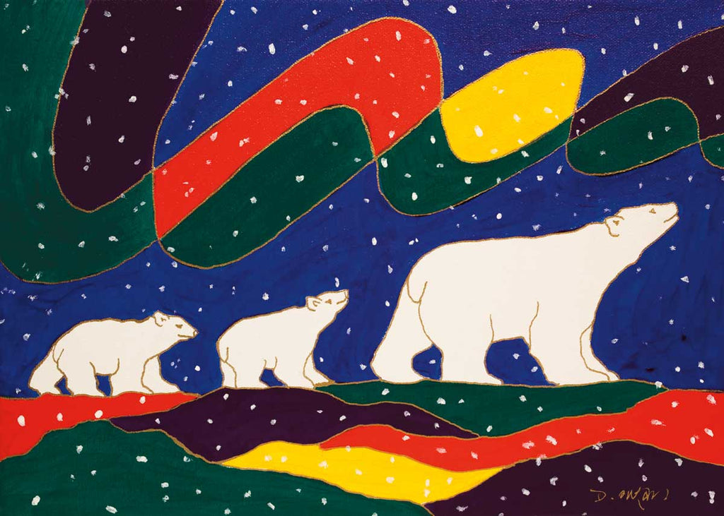 Three Bears - Northern Expressions | Dawn Oman - Print | | Canadian Indigenous & Inuit Art