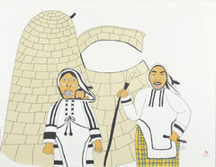 AMAAK AGIRASIMAJUUK (WOMEN AT HOME) - Northern Expressions | Ulayu Pingwartok - Print | | Canadian Indigenous & Inuit Art