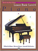 Alfred's Basic Piano Course - Lesson Book, Level 6 - Canada