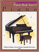 Alfred's Basic Piano Course - Theory Book, Level 6 - Canada