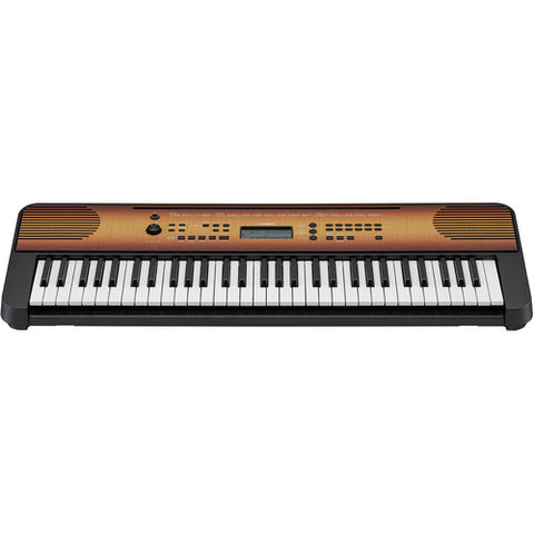 Yamaha PSRE360 MA Portable Keyboard (Mahogany Wood)