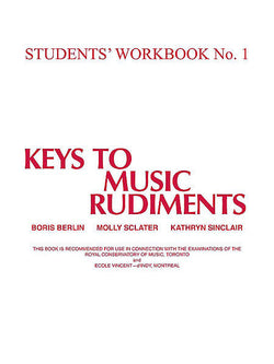 Keys to Music Rudiments - Students' Workbook No. 1 - Canada