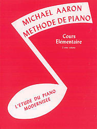 Michael Aaron Piano Course, Book 2  French Language Edition - Canada