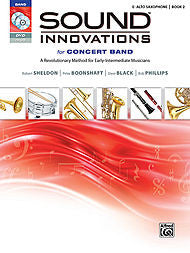 Sound Innovations For Concert Band - Eb Alto Sax, Book 2 (w/CD/DVD) - Canada
