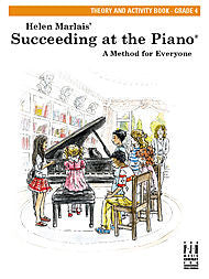 Succeeding At The Piano, Theory and Activity Book - Grade 4 - Canada