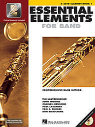 Essential Elements For Band - Eb Alto Clarinet, Book 1 (w/CD & EEi) - Canada