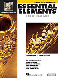 Essential Elements For Band - Eb Alto Sax, Book 1 (w/CD & EEi) - Canada