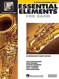 Essential Elements For Band - Bb Tenor Saxophone, Book 1 (w/CD & EEi) - Canada