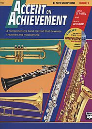 Accent On Achievement - Eb Alto Sax, Book 1 (w/CD) - Canada