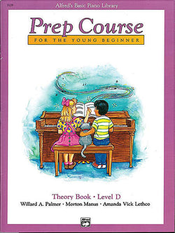 Alfred's Basic Piano Prep Course: Theory Book D For the Young Beginner - Canada