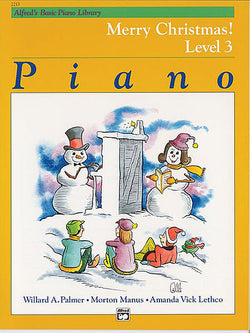 Alfred's Basic Piano Library Merry Christmas! Level 3 Piano - Canada