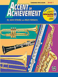 Accent On Achievement - Combined Percussion, Book 1 (w/CD) - Canada