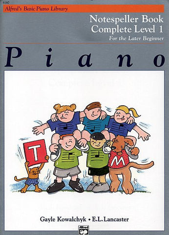 Alfred's Basic Piano Library - Notespeller Book Complete Level 1 - Canada