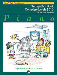 Alfred's Basic Piano Library - Notespeller Book Complete Levels 2&3 - Canada
