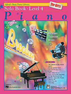 Alfred's Basic Piano Course - Top Hits! Solo Book, Level 4 - Canada