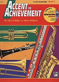 Accent On Achievement - Eb Alto Sax, Book 2 (w/CD) - Canada