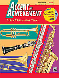 Accent On Achievement - Percussion S.D. B.D. & Acc., Book 2 (w/CD) - Canada