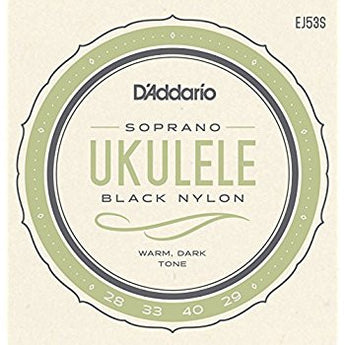 D'Addario Soprano Ukulele Strings - Black Nylon