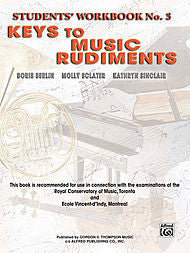 Keys to Music Rudiments - Students' Workbook No. 3 - Canada