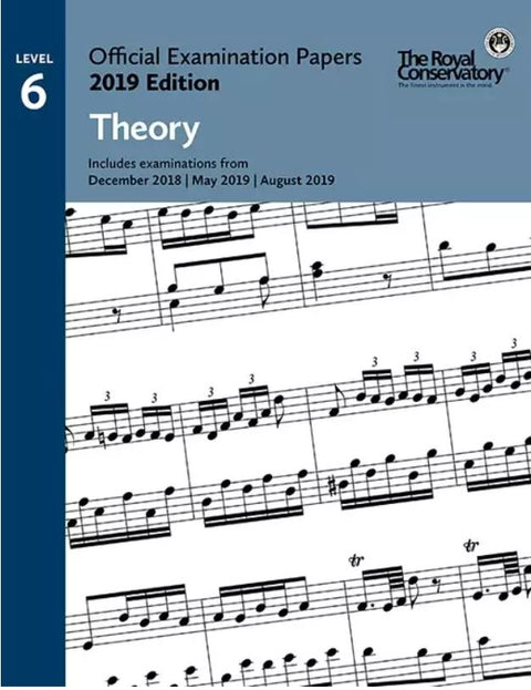 RCM Official Examination Papers: Theory, Level 6 - 2019 Edition - Book