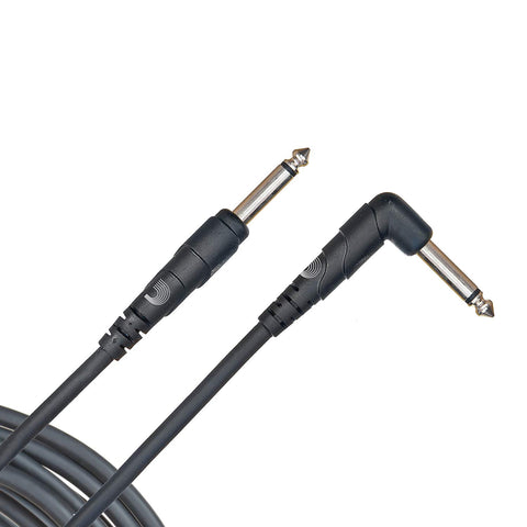 Planet Waves Classic Series Instrument Cable, Right Angle Plug , Black, 10 feet,PW-CGTRA-10