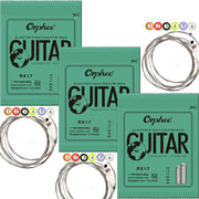 3 Sets Orphee Nickel Plated Steel Electric Guitar Strings (Extra Light, Light, Medium)